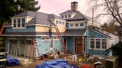 Full residential home retrofit in progress, Westchester NY.