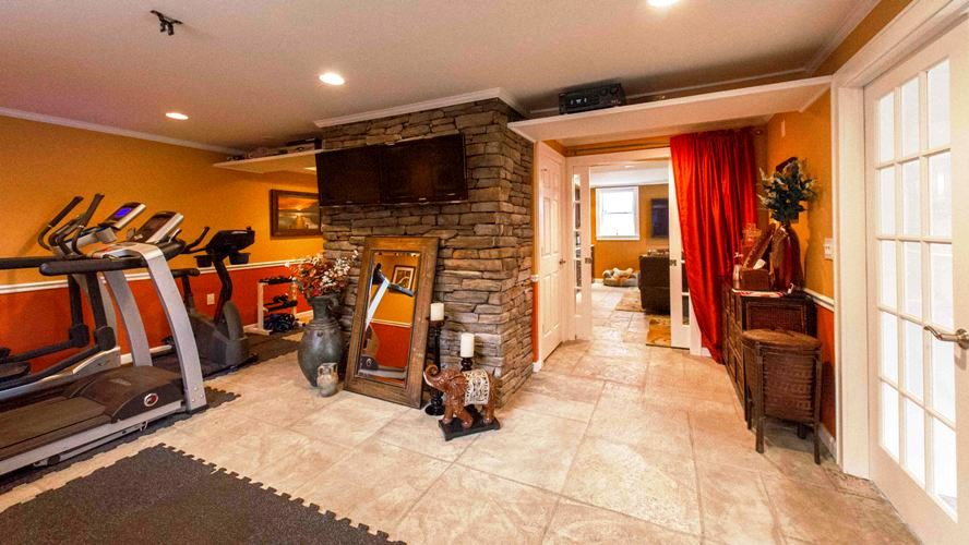 Westchester county NY basement stamped concrete finishing remodel renovation contractor