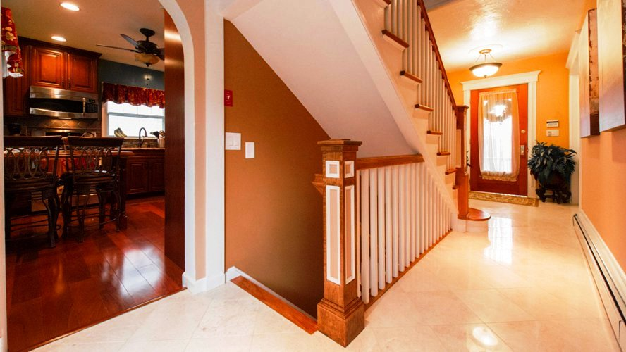 Westchester county NY open stairway basement finishing remodel renovation contractor