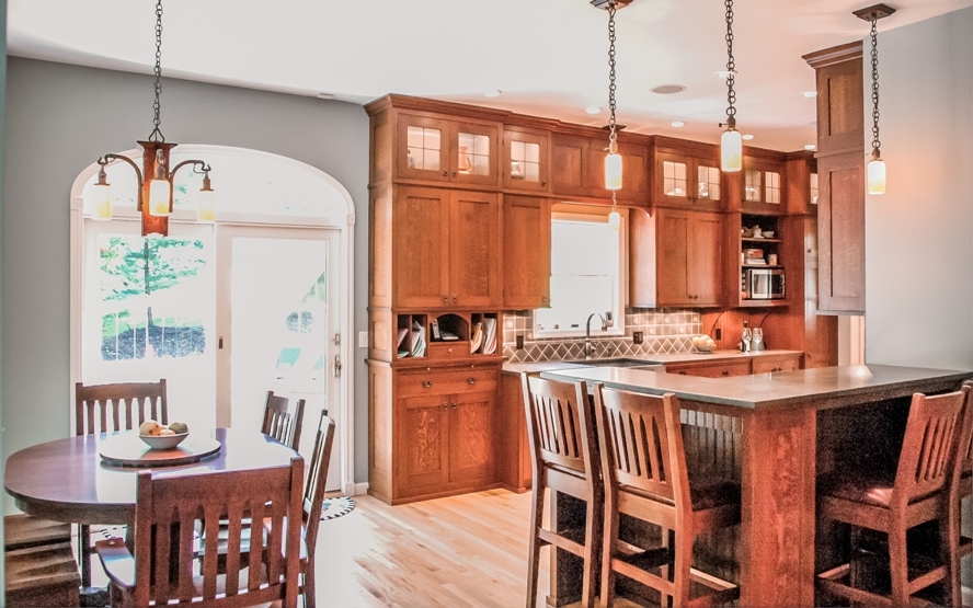 Westchester craftsman mission style custom design kitchen cabinetry