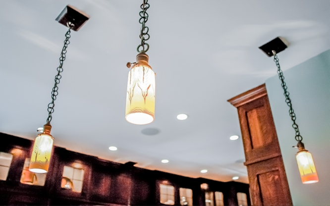 Westchester craftsman mission style custom design light fixtures