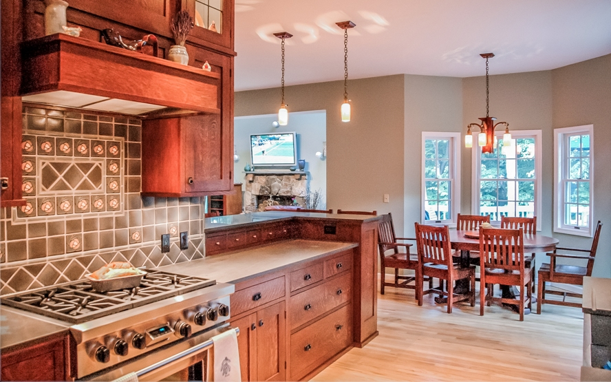 Westchester craftsman mission style design kitchen cabinetry builder