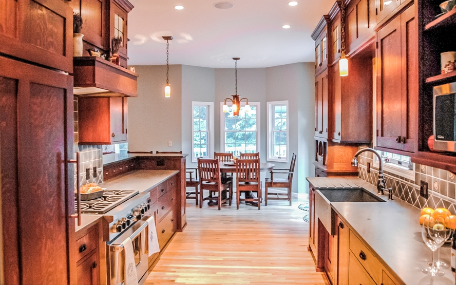 Westchester craftsman style custom design kitchen cabinetry