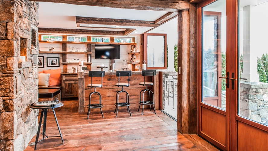Westchester custom design built antique bar reclaimed wood