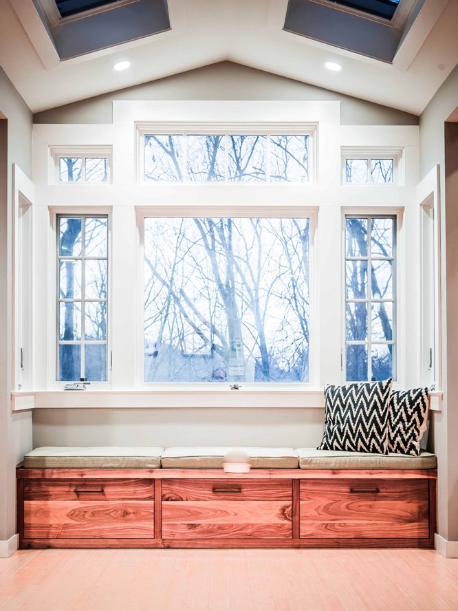 Westchester custom design built-in bench seating cabinet