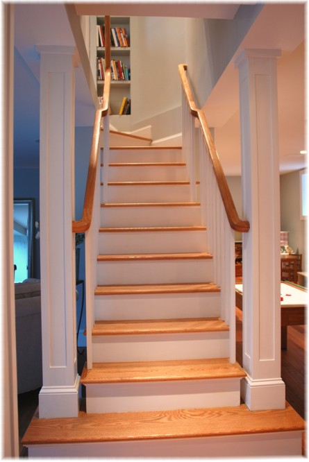 Westchester NY design build new basement stairs contractor