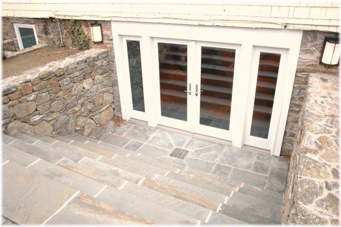 Westchester ny design build walk out dig up basement for Walkout basement door options