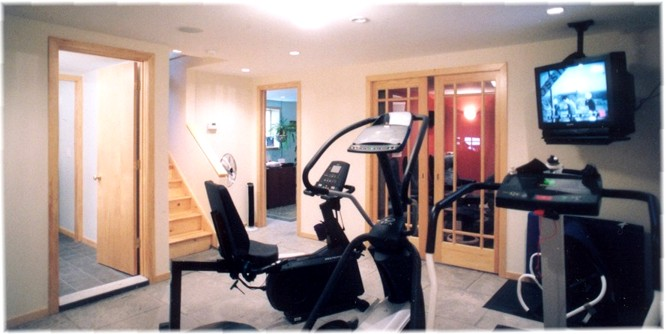 "The Home Gym Area... Notice How The Beam Is Now ""Gone""..."