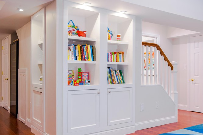 basement custom built-ins books cabinetry design ideas, Bedford Westchester