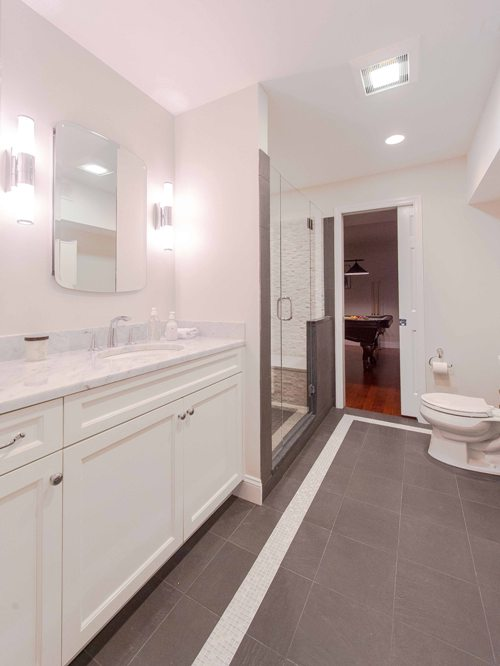 basement bathroom custom shower design ideas, Bedford Westchester