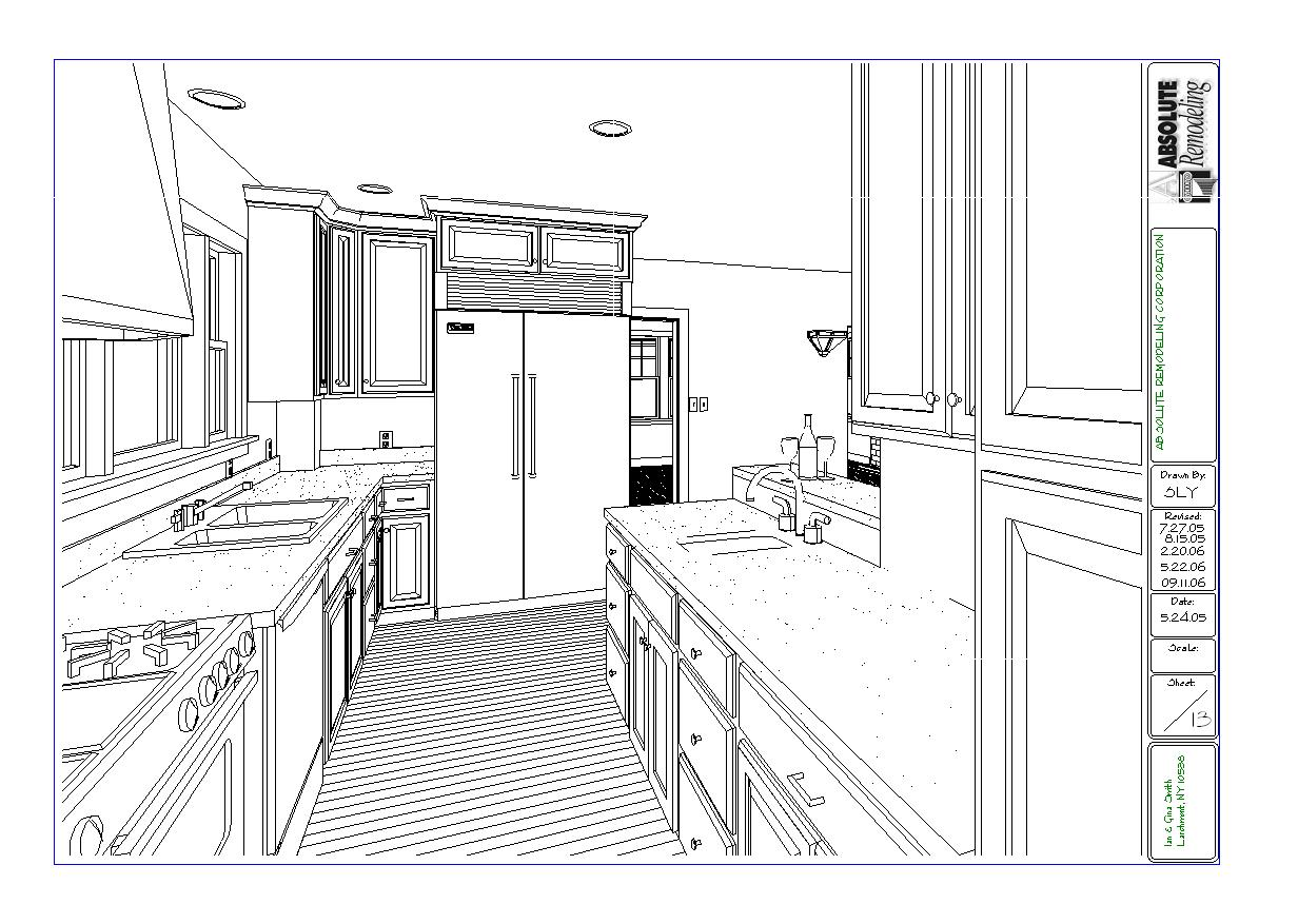 Larchmont Westchester Kitchen Renovaton Floor Plan Design 3ds Views