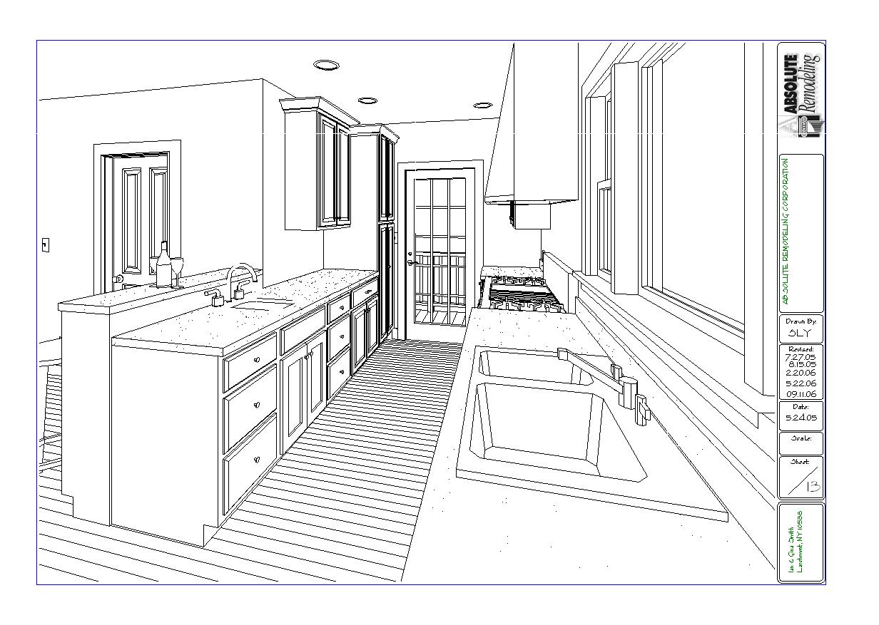 Larchmont kitchen floor plan - Small kitchen floor plans ...