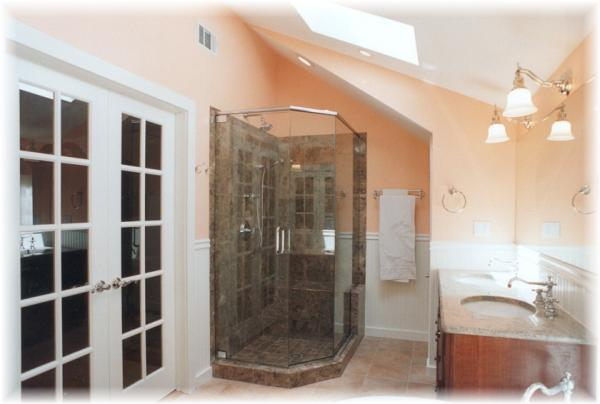 Double French Doors, Shower & Vanity View